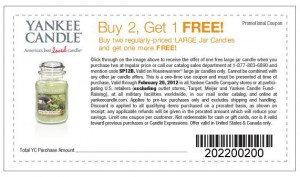 Yankee Candle Buy 2 One Free Coupon