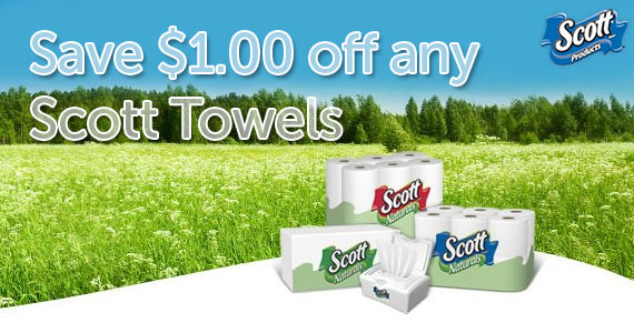 Save $1.00 off Scott Towels