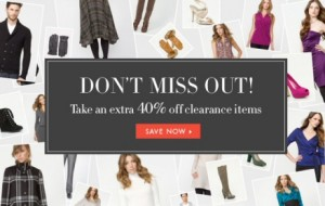40 off Le Chateau Clearance