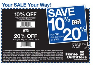 Home Outfitters Coupon