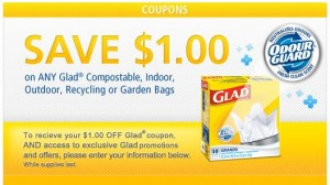 Save 1 on Glad Bags