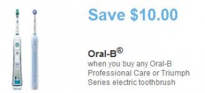 Save 10 on an Oral B Electric Toothbrush