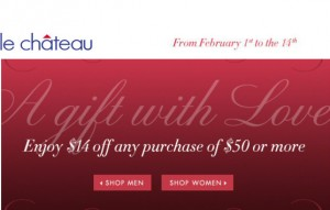 Save 14 at Le Chateau with Coupon