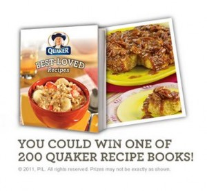 Win a Quaker Recipe Book
