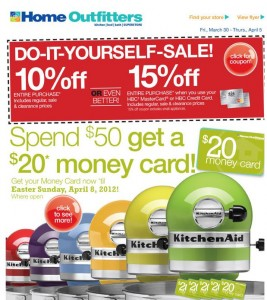 Home Outfitters Coupon and Savings Card