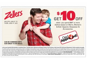 Save 10 off at Zellers
