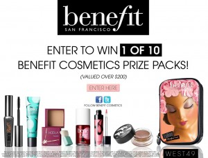 Win a Benefits Cosmetic Prize Pack from West 49
