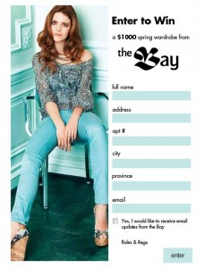 Win a Spring Wardrobe with The Bay