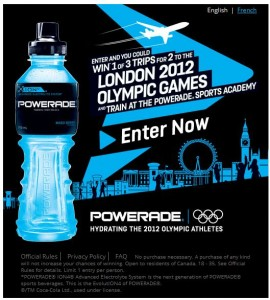 Win a Trip to the London Games with Powerade