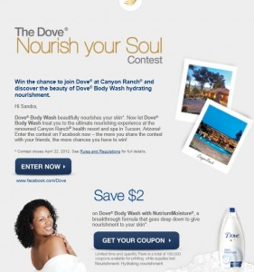 Dove Contest and Coupon