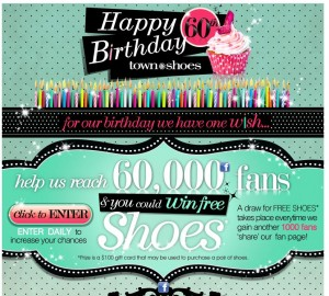 Happy Birthday Town Shoes