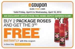 Home Depot Save on Roses