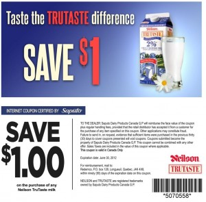 Save 1 on Neilson Trutaste Milk