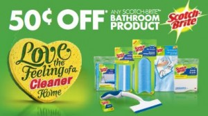 Save 50 Cents on Scotch-Brite Bathroom Products