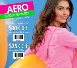 Save Up to 25 off at Aeropostale