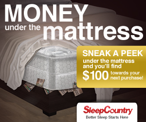 Save on a Sleep Country Mattress