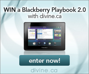 Win a Blackberry Playbook with Divine.ca