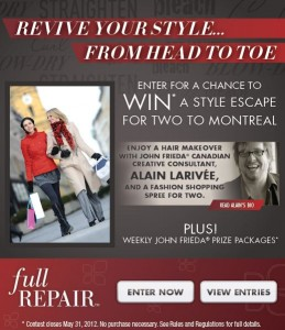Win a Trip to Montreal with John Frieda