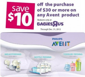 Babies R Us Avent Coupon