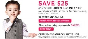 Save 25 on Childrens Clothes at The Bay