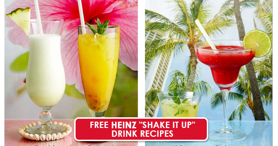 "Free Heinz ""Shake It Up"" Drink Recipes"