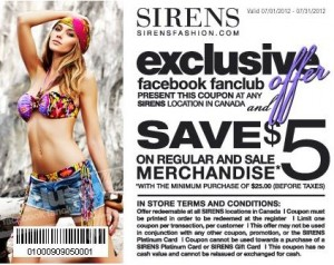 Save 5 off at Sirens