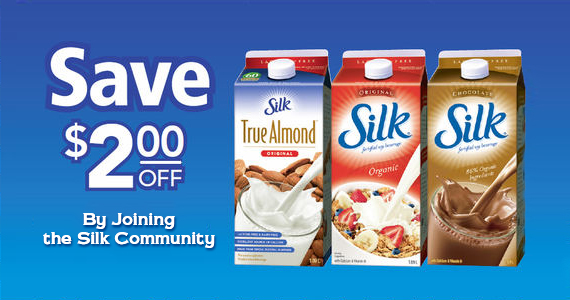 Save Up to $2 off By Joining the Silk Community