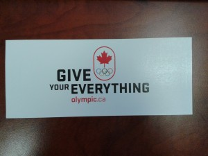 Canadian Olympic Bumper Sticker