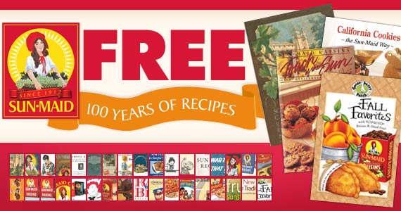 Free 100 Years of Sun-Maid Recipe Books
