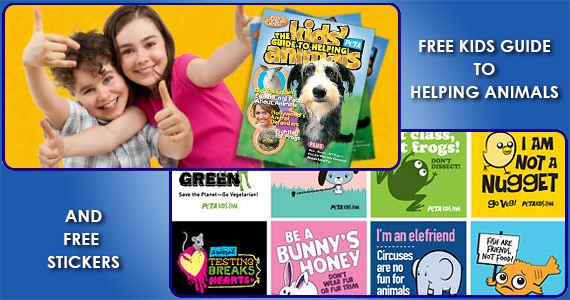 Free Kids Guide to Helping Animals Magazine & Stickers