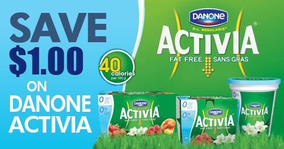 Save $1 on Danone Activia