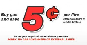 Save 5 Cents on Canadian Tire Gas