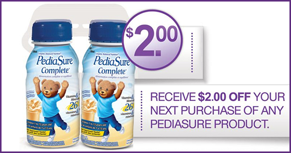 Save $2 on Any PediaSure Product