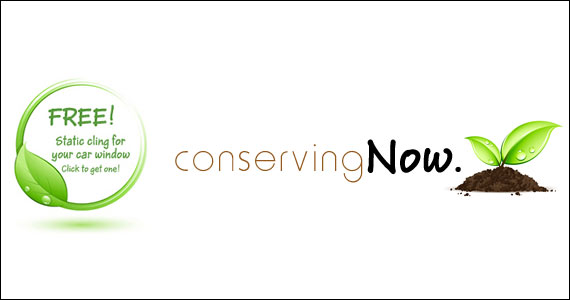 Free ConservingNow Static Window Cling