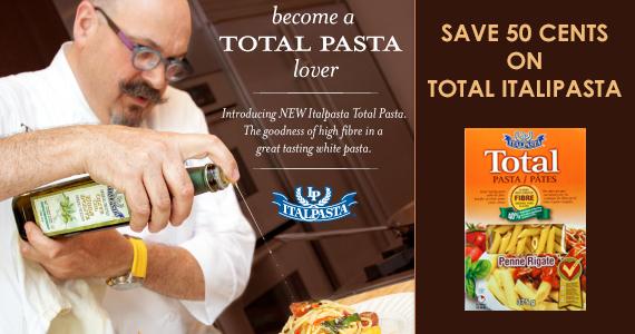 Save 50¢ on Total Italpasta