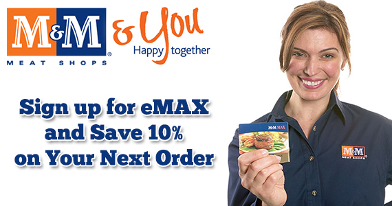 Sign Up for eMAX and Save 10% on Your Next Order