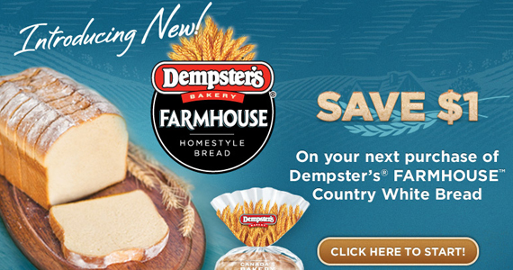 Save $1 on Dempters' Farmhouse Homestyle Bread