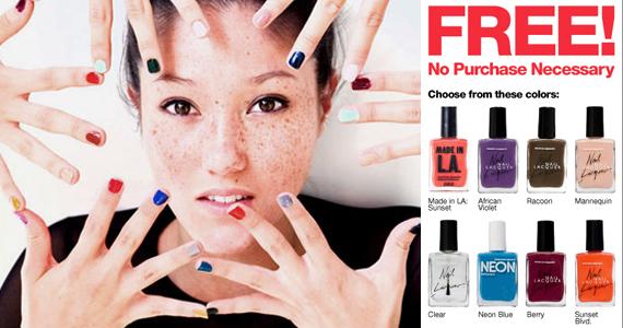 Free Nail Polish at American Apparel