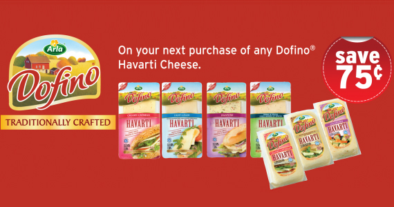 Save 75 cents on Havarti Cheese