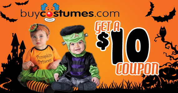 Save $10 on Halloween Costumes