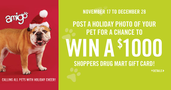 You Could Win* $1,000 Shoppers Drug Mart Gift Card