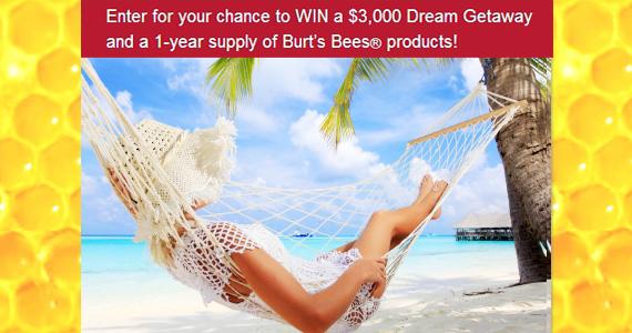 Win a $3,000 Dream Getaway from Burt's Bees