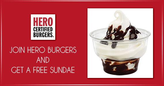 Join Hero Burgers and Get a Free Sundae