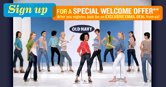 Join Old Navy to get Exclusive Email Offers