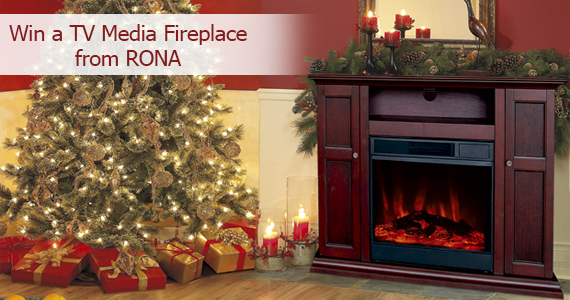 Win a TV Media Fireplace from RONA