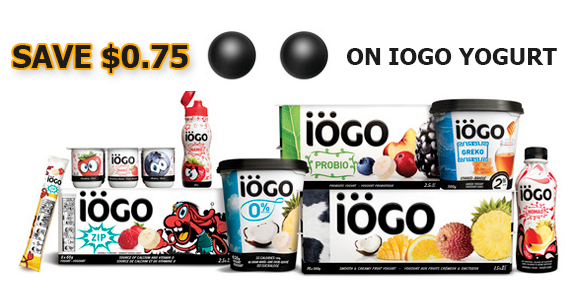 Save $0.75 on iogo Yogurt