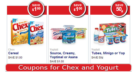Coupons for Chex and Yogurt