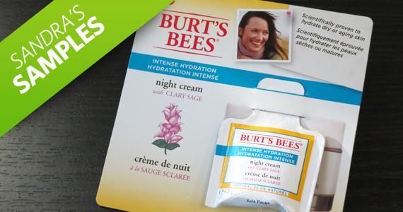 Sandra's Samples- Burt's Bees Night Cream