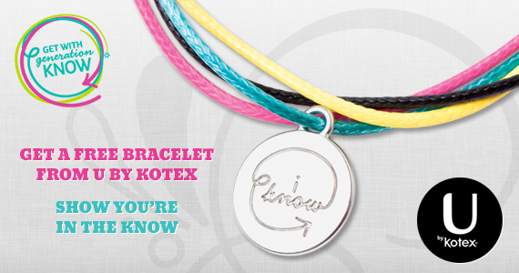 Get a Free Generation Know Bracelet from U by Kotex