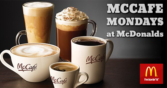 McCafe Mondays at McDonalds